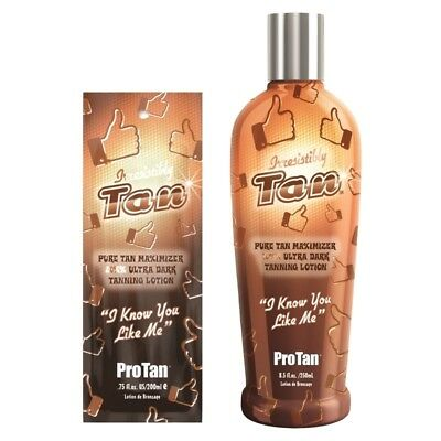 Pro Tan Irresistibly Tan ultra dark sunbed tanning lotion cream sachet & bottle