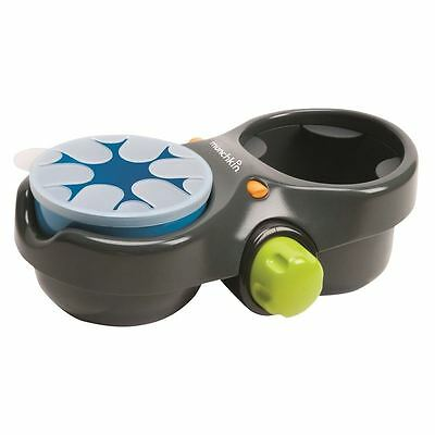 NEW! Munchkin Deluxe Baby/Toddler Travel Snack and Drink Quick-Attach Pod Holder