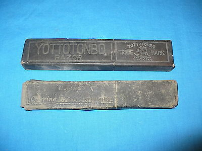 Lot of 2 Vintage Straight Razor Boxes/Container Yottotonbo, G. White