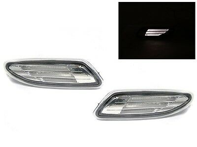 DEPO 01-07 MBZ W203 C Class Clear White LED Light Bar Bumper Side Marker Lights