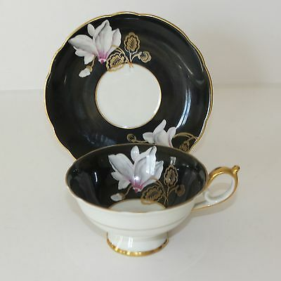 Antique Royal Bayreuth Gold Gilt Lily Flower Cup & Saucer -Rare Germany US Zone