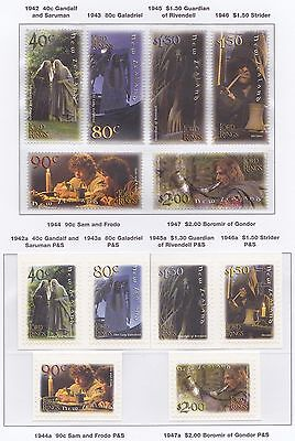 The Lord Of The Rings 2001 - Mnh Set Gummed, Self-Adhesive + Minisheets (R60-Rr)