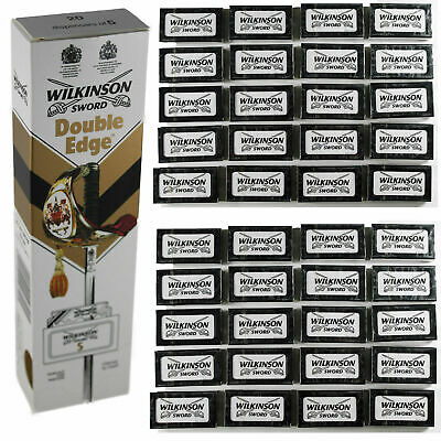 100% GENUINE Wilkinson Sword Double Edge Classic Mens Safety Razor Blades UK P&P