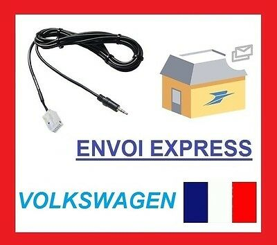 AUX in Socket & Cable For VW Passat B6 B7 CC Tiguan RNS510 RCD510 New