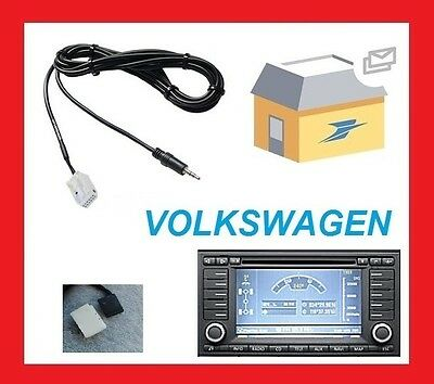 cable auxiliaire aux adaptateur mp3 pour autoradio rns2 vw touareg t5 multivan eur 8 98. Black Bedroom Furniture Sets. Home Design Ideas
