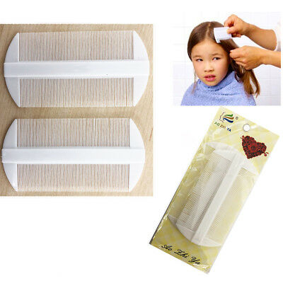 2 Hair Lice Comb Fine Kids Care Double Sided Tooth Nit Egg Removal Healthy Clean