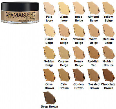 Dermablend Cover Creme SPF 30 - 1 oz - Warm Ivory (Chroma 1/2)