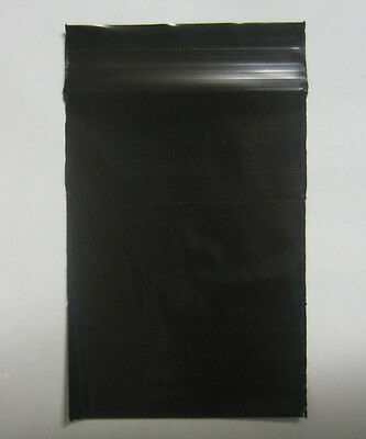 "100 QTY BLACK COLOR  9"" x 12""  Plastic Ziplock Poly resealable Jewelry BAGS 2MIL"