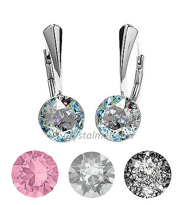925 Sterling Silver Earrings 1088 XIRIUS 8 mm Genuine Crystals from Swarovski®