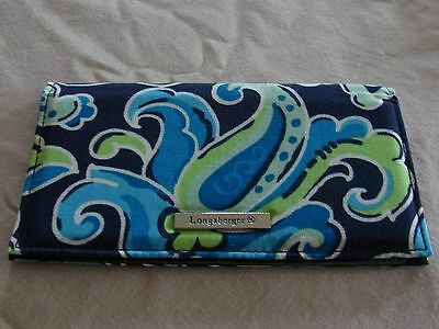 Longaberger Sisters Checkbook check book Cover in Daydream Pattern  ~NEW~