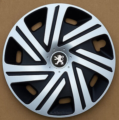 "Brand new silver/black 15"" wheel trims to fit Peugeot 207"