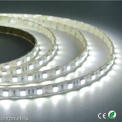 24v 5M WHITE CLEAR LED 5050 SMD STRIP LIGHT WATERPROOF MARKER VOLVO ACTROS IVECO