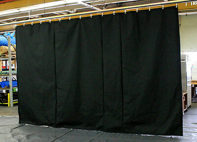 Black Stage Curtain/Backdrop/Partition, 8 H x 15 W, Non-FR