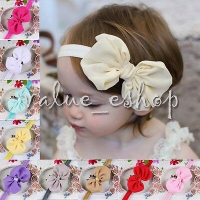 10pcs Kid Baby Girl Toddler Infant Flower Headband Hair Bow Knot Band Accessory