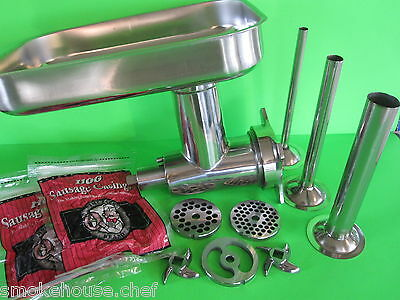 Meat Grinder attachment for Hobart 4212 4812 a200 h600 d300 h660 a120 + EXTRAS