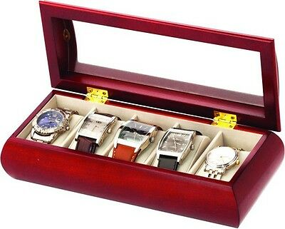 Gents Wooden Valet Watch Box - Choice of Colour