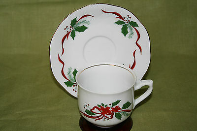 """SOUTHINGTON BY BAUM POLAND (1) CUP AND SAUCER SET IN """"VICTORIAN HOLIDAY"""" PATTERN"""
