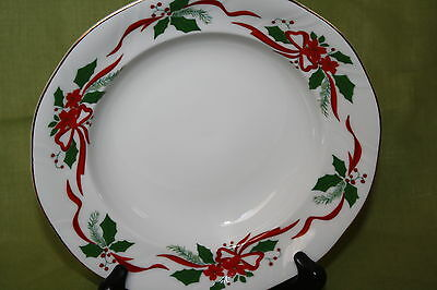 """SOUTHINGTON BY BAUM POLAND (1) RIMMED SOUP BOWL IN """"VICTORIAN HOLIDAY"""" PATTERN"""