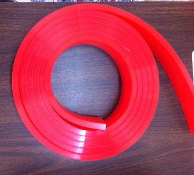 6 FT/Feet Roll - 60 Duro Durometer - Silk Screen Printing Squeegee Blade Red