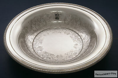 Vintage International Silver Plated Round Serving Bowl, XLNT Condition (#988)
