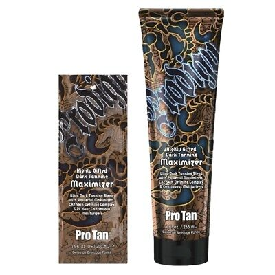 Pro Tan PRODIGY for MEN sunbed tanning lotion cream maximizer BOTTLE or SACHET