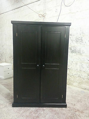 Hand Made Dewsbury Kiddies Furniture Ladies Wardrobe Black (Fully Assembled)