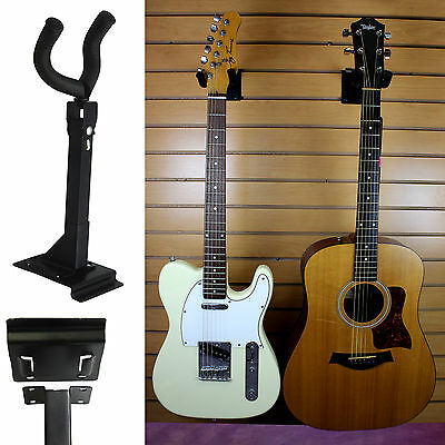 Adjustable Acoustic Electric Guitar Wall Mount Display Hanger Holder Hook Stand