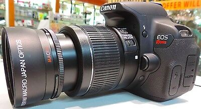 Wide Angle Macro Lens For Canon Eos Digital Rebel t2i xt t3 t3i t4 xt w/18-55 vx