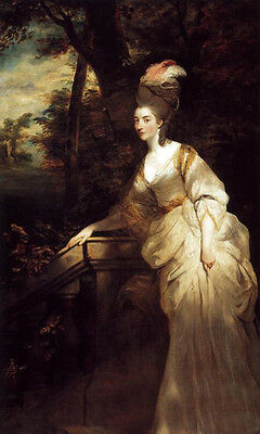 Oil Joshua Reynolds - Georgiana, Duchess of Devonshire nice young lady in forest