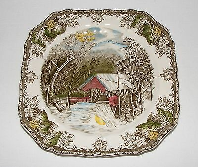 VINTAGE JOHNSON BROTHERS THE FRIENDLY VILLAGE SQUARE LUNCHEON PLATE ~ MINT