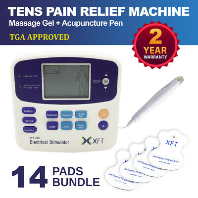 Physio Tens Machine XFT-320A Pain Relief Massager Acupuncture Pen +14 Pads