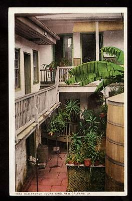 c.1908 old french quarter court yard New Orleans Louisiana postcard