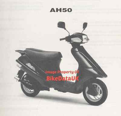 Suzuki AH50 Address (1992-1994) Illustrated Parts List/Catalogue AH 50 G,Scooter
