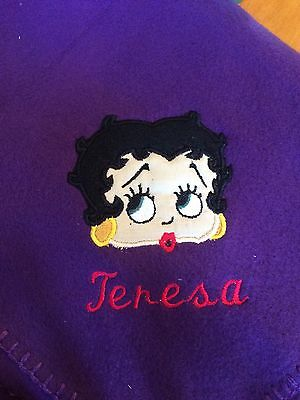 Betty Boop Personalized Throw Blanket