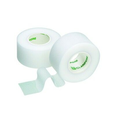6 x Transparent Plastic Surgical, Micropore Tape 1.25cm x 9.1m M