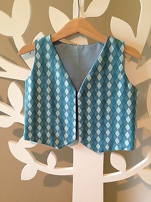 Boys Handmade Cotton Funky Vest In Size 3