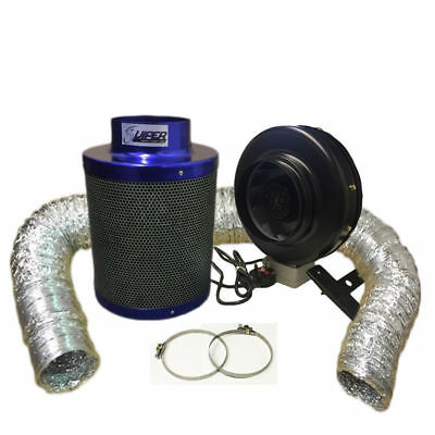 "6"" High Power Fan And 6""/ 300 Premium Viper Carbon Filter Kit Hydroponics"