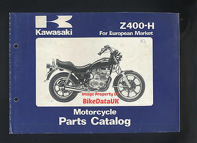 Kawasaki Z400-H3/H4 (1981-1982) Illustrated Parts List/Catalogue Z 400 H LTD