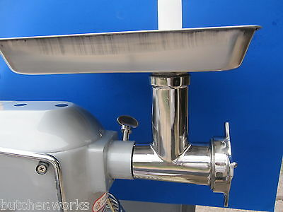 S/S Meat Grinder Attachment for size #12 Hobart mixer a200 a120 d300 d330 h600