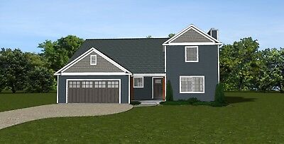 2-STORY HOME HOUSE Plan 2,550 SF Blueprints #1504 with basement ...