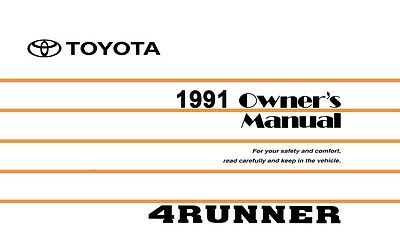 1999 toyota 4runner owners manual user guide reference operator book rh picclick com 1998 Toyota 4Runner Owners Manual PDF 98 toyota 4runner owners manual