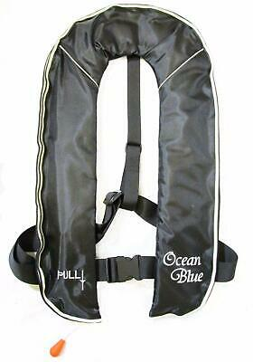 150N LIFE JACKET BLACK  - OCEAN BLUE - AUTOMATIC - CE and ISO 12402-3 APPROVAL