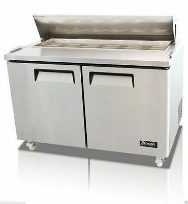 "MIGALI 2 DOOR 48"" SANDWICH PREP TABLE C-SP48-12 Pan, FREE DELIVERY!"
