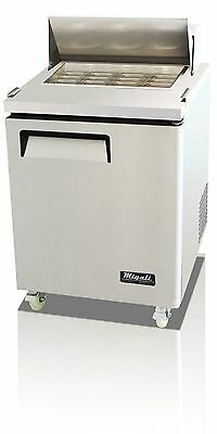 "Migali 1 Door 27"" Sandwich Prep Table C-Sp27-8 Pan, Free Delivery!"