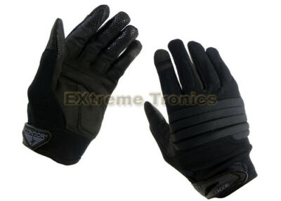 CONDOR Black S STRYKER Police SWAT Military Tactical Padded Knuckle Gloves Small