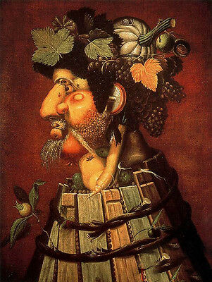 """Oil painting Giuseppe Arcimboldo - The Autumn with fruits free shipping cost 36"""""""
