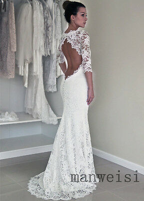 Hot Sell White/Ivory Lace Sweetheart Wedding Dresses Mermaid Bridal Gown Custom