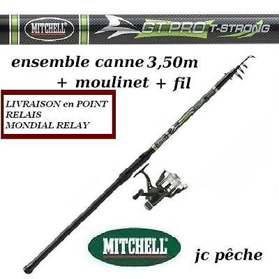 canne a peche MITCHELL BROCHET Carnassiers 3.50 m+ moulinet + Fil