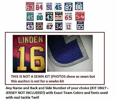 NHL UNSEWN Kit for Hockey Jersey (With Any Name and Number of your choice)