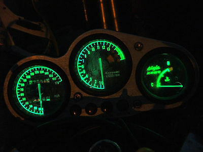 GREEN ZX7R P series led dash clock conversion kit lightenUPgrade